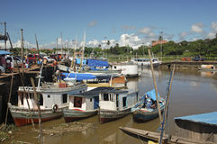 Le port de Macapa en Amazonie Photo stock