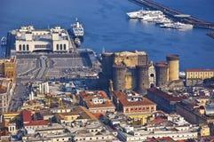 Le port de Naples Image libre de droits