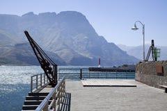 Le port de Puerto de Las Nieves, mamie Canaria Images libres de droits