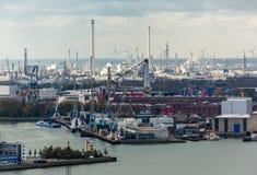 Le port de Rotterdam image stock
