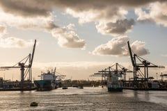 Le port de Rotterdam photo stock