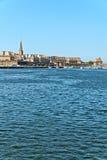 Le port de Saint Malo avec le ciel bleu brittany Photos stock