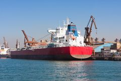Le port de Santos Image libre de droits