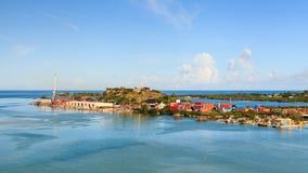 Le port de St John images libres de droits