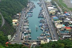 Le port de Suao, comté de Yilan, Taiwan Photo stock