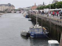 Le port de Trouville-sur-MER est le port de la ville de Trouville-sur-MER, France photos stock