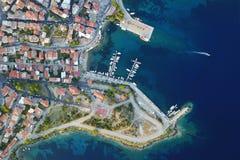 Le port de ville image libre de droits