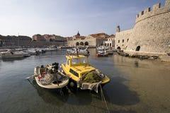 Le port de ville Image stock