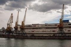 Le port en Mer Noire Image libre de droits