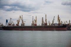Le port en Mer Noire Photo stock