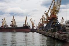 Le port en Mer Noire Photo libre de droits