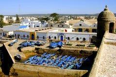 Le port et le fort, Essaouira, Maroc Photographie stock libre de droits