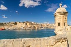 Le port grand La Valette Images libres de droits