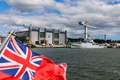 Le port naval britannique de Plymouth Photo libre de droits