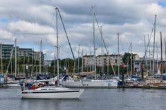 Le port naval britannique de Plymouth Image libre de droits