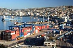Le port Vue d'ascensor Artilleria valparaiso chile Image libre de droits