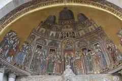 Le portail de St Alipio, basilique de St Mark, Venise photos stock