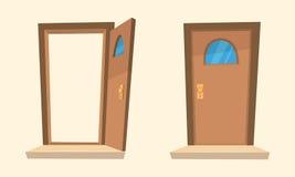 Le porte del fumetto Immagini Stock