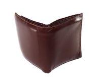 Le portefeuille en cuir est couleur brune Image stock