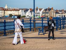 Le Porthcawl Elvis Festival photo libre de droits