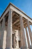 Le portique du nord de l'Erechtheion, Athènes, Grèce. Photos stock