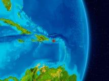 Le Porto Rico de l'espace Images libres de droits