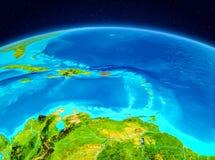 Le Porto Rico de l'orbite Images stock