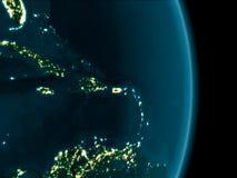 Le Porto Rico la nuit Image stock