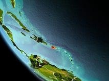 Le Porto Rico la nuit sur terre Images stock