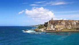 Le Porto Rico - le Castillo San Felipe del Morro Images libres de droits