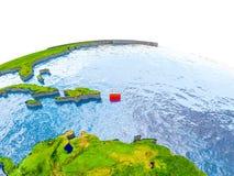 Le Porto Rico sur le modèle de la terre photos libres de droits