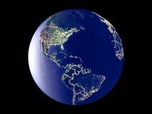 Le Porto Rico sur terre de l'espace image libre de droits