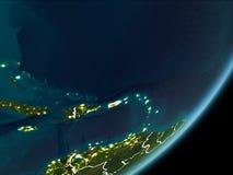 Le Porto Rico sur terre de nuit Photos stock