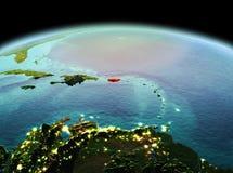 Le Porto Rico sur terre de planète dans l'espace Image libre de droits