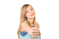 Le portrait d'un adolescent est CORRECT Image stock