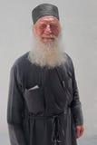 Le portrait d'un prêtre d'église de l'acceptation de Vierge Marie dans Naoussa, Paros, Grèce 2 Photos stock