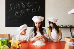 Le portrait de cuisinier de famille Photo libre de droits