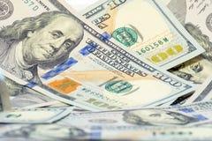 Le portrait de Franklin sur la facture de dollar US 100 Fond d'argent Finances et affaires de concept Profondeur de zone Copiez l images libres de droits