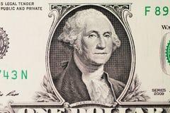 Le portrait de Washington sur le dollar photographie stock libre de droits