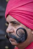 Le portrait des militaires participent aux activités de répétition pour le défilé prochain de jour de République d'Inde Delhi Ind Photos stock