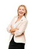 Le portrait du milieu heureux de femme d'affaires mûres a vieilli le smilin de femme Photographie stock libre de droits