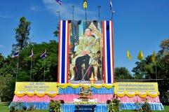 Anniversaire du roi thaïlandais le 85th Image libre de droits