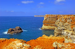 Le Portugal, Algarve, Sagres : littoral Photo stock