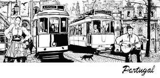 Le Portugal - composition sur la ville de Lisbonne Image libre de droits