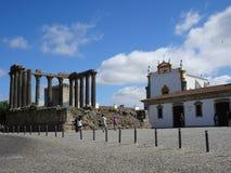 Le Portugal, Evora, vue des Di carrés Vila Flor de Condi photo stock