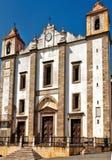 Le Portugal, l'Alentejo, Evora : Église de rue Antao photo libre de droits