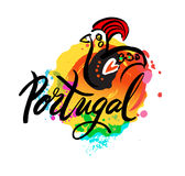 Le Portugal le logo de destination de voyage Images stock
