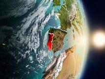Le Portugal pendant le lever de soleil Image stock