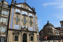 Le Portugal, Porto : façade antique potuguese typique - azulejos image stock