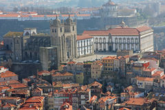Le Portugal. Porto. Vue aérienne Image libre de droits
